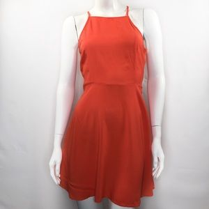 Divided by H&M Size 8 Fit and Flare Dress Orange